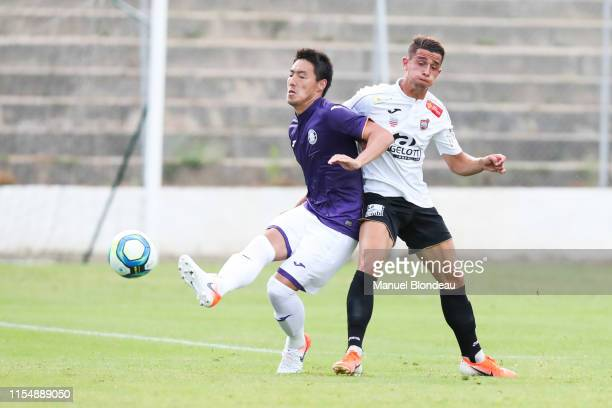 Gen Shoji of Toulouse during the Friendly match between Beziers and Toulouse at Stade de Sauclieres on July 9 2019 in Beziers France