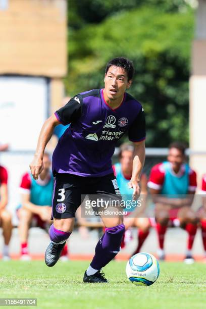 Gen Shoji of Toulouse during the Friendly match between Toulouse and Ajaccio on July 13 2019 in L'Union France