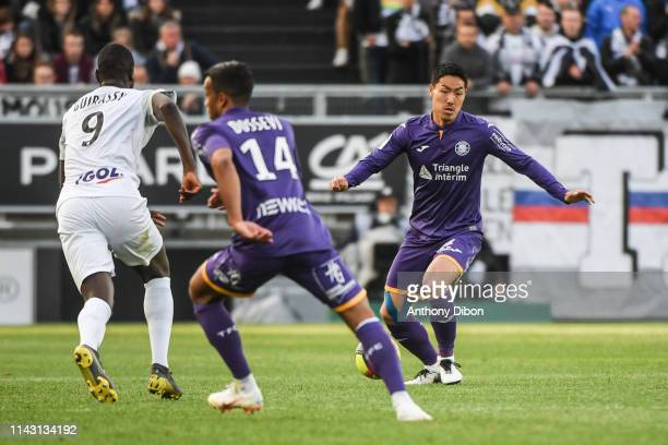 Gen Shoji of Toulouse during the Ligue 1 match between Amiens and Toulouse on May 11 2019 in Amiens France