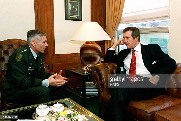 Gen. Wesley K. Clark, U.S. Army, Supreme Allied Commander Europe, Meets With Secretary Of Defense William S. Cohen To Discuss Nato Operation Allied...