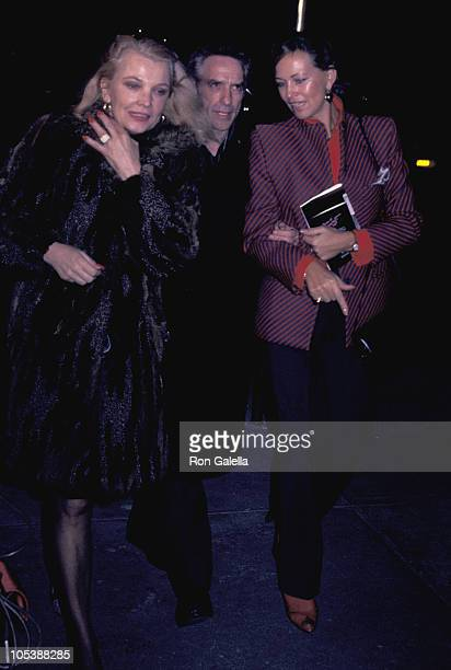 Gena Rowlands John Cassavetes and Guest during 'Terms of Endearment' New York City Premiere at Coronet Theater in New York City New York United States