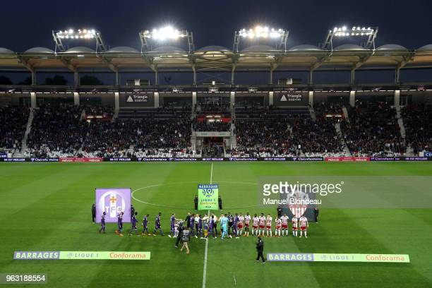 Genaral view during the Ligue 1 playoff match between Toulouse and AC Ajaccio on May 27 2018 in Toulouse France