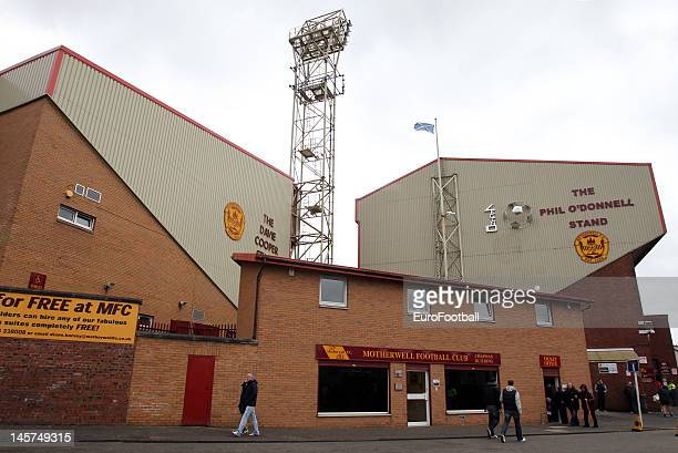 Genaral view of Fir Park, home of Motherwell FC taken prior to the Scottish Premier League match between Motherwell FC and Dundee United FC held at...