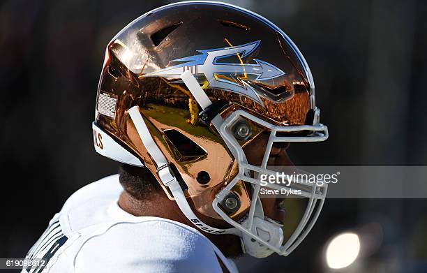 A genaral view of the Arizona State Sun Devils helmet before the game against the Oregon Ducks at Autzen Stadium on October 29 2016 in Eugene Oregon