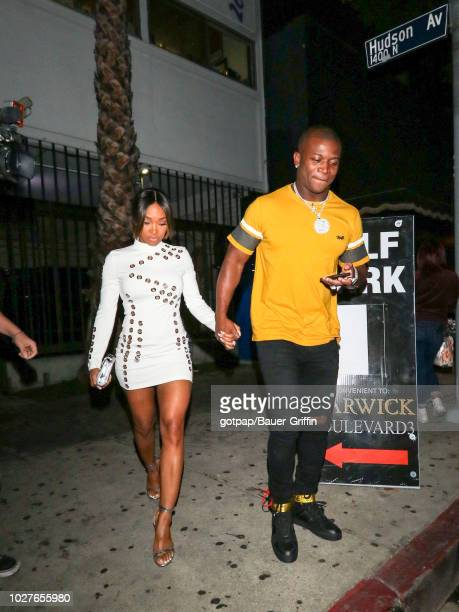 T Genasis and Malika Haqq are seen on September 06 2018 in Los Angeles California