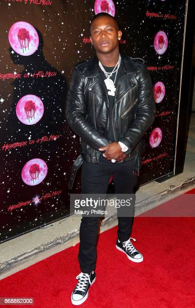 T Genasis arrives at Chris Brown album release Pop up for Heartbreak On A Full Moon at Universal Studios Hollywood on October 31 2017 in Universal...