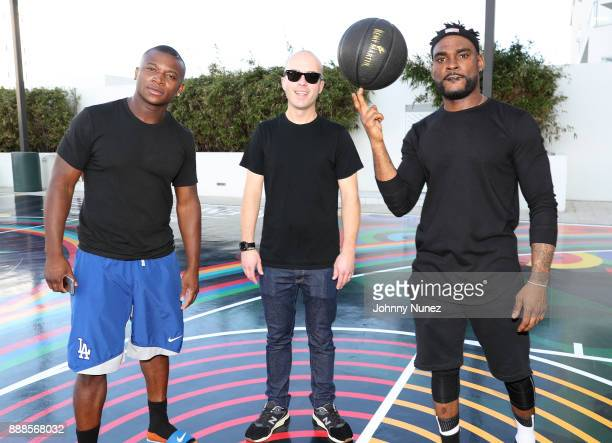 OT Genasis Matt W Moore and DJ STEVIE J attends The House Of Remy Martin Presents The MVP Experience In Miami at W South Beach on December 8 2017 in...