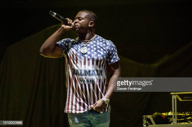 T Genasis performs live on stage at the Ford Amphitheater at Coney Island Boardwalk on August 2 2018 in Brooklyn New York
