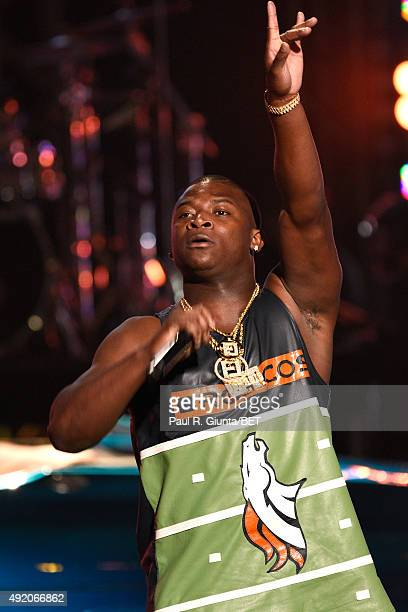 T Genasis performs onstage at the BET Hip Hop Awards Show 2015 at the Atlanta Civic Center on October 9 2015 in Atlanta Georgia