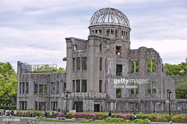 cúpula de genbaku - bomba atômica de hiroshima - fotografias e filmes do acervo