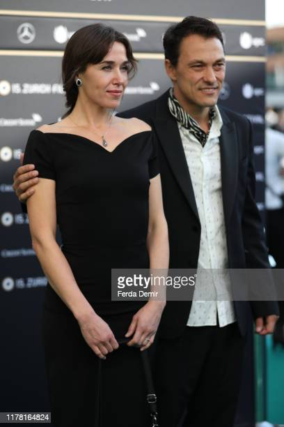 """Genc Jakupi and Arta Dobroshi attend the """"Drita"""" photo call during the 15th Zurich Film Festival at Kino Corso on September 30, 2019 in Zurich,..."""