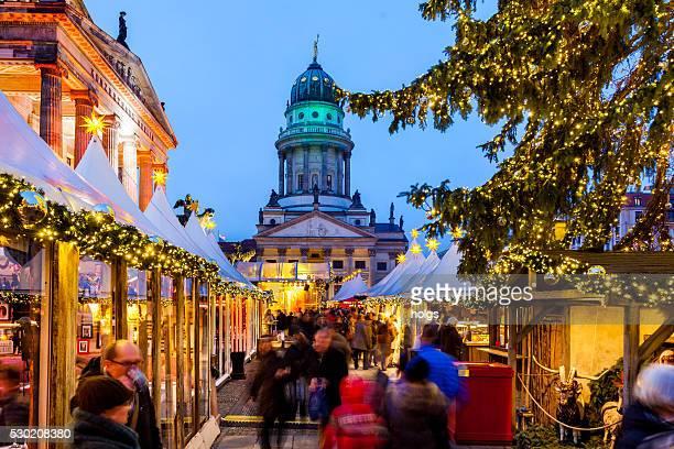 gendarmenmarkt, berlim, alemanha - mercado natalino - fotografias e filmes do acervo
