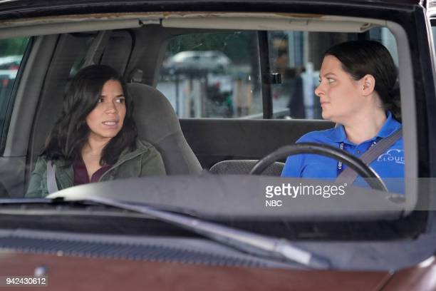 SUPERSTORE Gender Reveal Episode 320 Pictured America Ferrera as Amy Lauren Ash as Dina