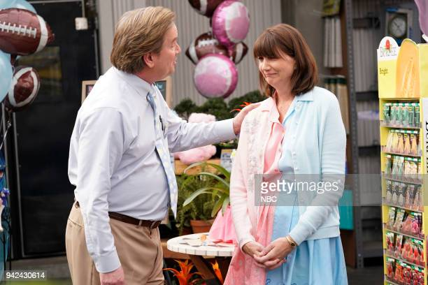 SUPERSTORE Gender Reveal Episode 320 Pictured Mark McKinney as Glenn Kerri Kenney as Jerusha