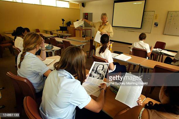 Gender Studies for Higher School Certificate students attend a class at the Ourimbah Campus of the University of Newcastle on 3 March 2004...