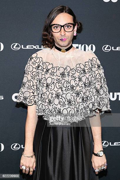 Genderqueer advocate Jacob Tobia attends the 2016 OUT100 Gala at Metropolitan West on November 10 2016 in New York City