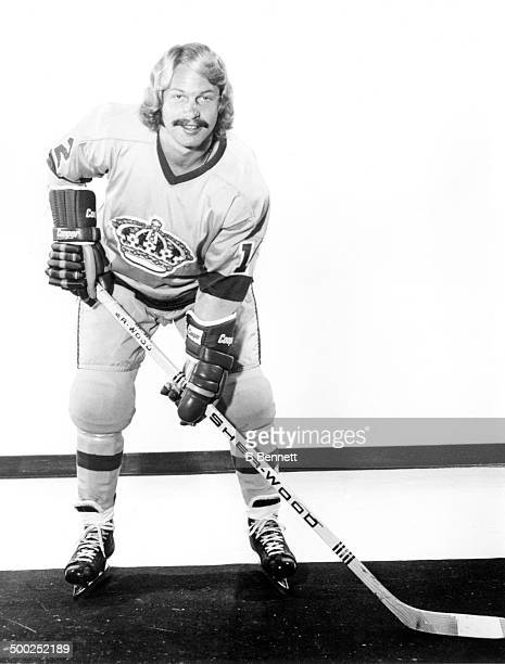 Gene Carr of the Los Angeles Kings poses for a portrait in September 1974 in Inglewood California