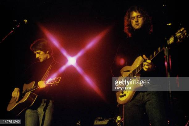 Gene Clark and Roger McGuinn performing as 'the Bryds' at Freeborn Hall in Davis California on October 19 1977