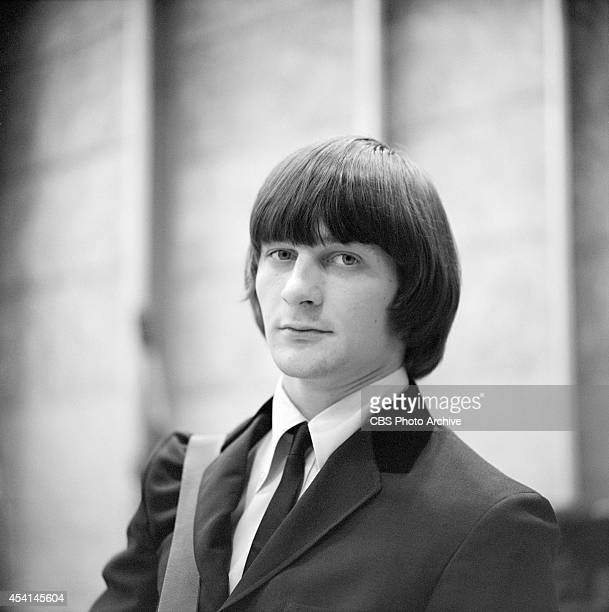 Gene Clark of The Byrds at a recording session in Los Angeles California January 28 1965