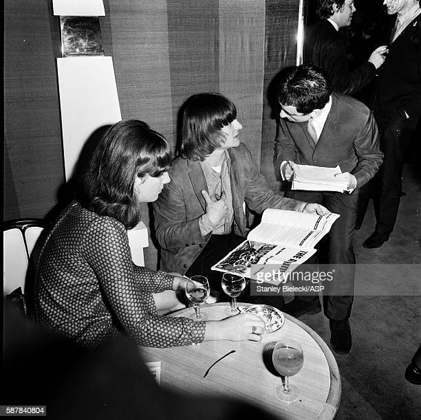 Gene Clark of The Byrds is interviewed at a London hotel 1965