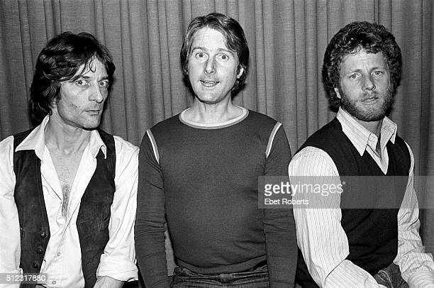 Gene Clark Roger McGuinn and Chris Hillman of The Byrds in New York City on January 25 1979