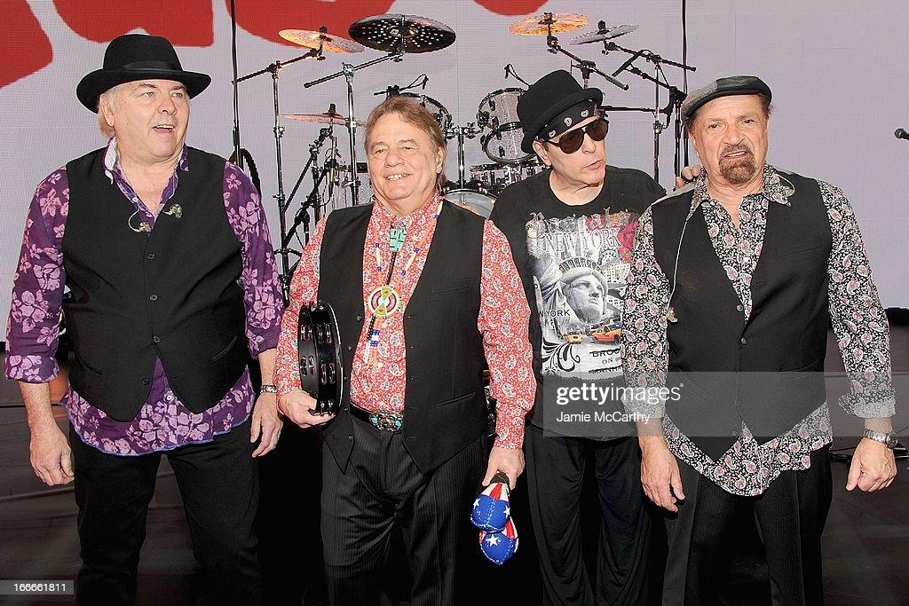 Gene Cornish, Eddie Brigati, Dino Danelli and Felix Cavaliere of The Rascals attend 'The Rascals: Once Upon A Dream' Broadway Sneak Peek>> at Lunt-Fontanne Theatre on April 15, 2013 in New York City.
