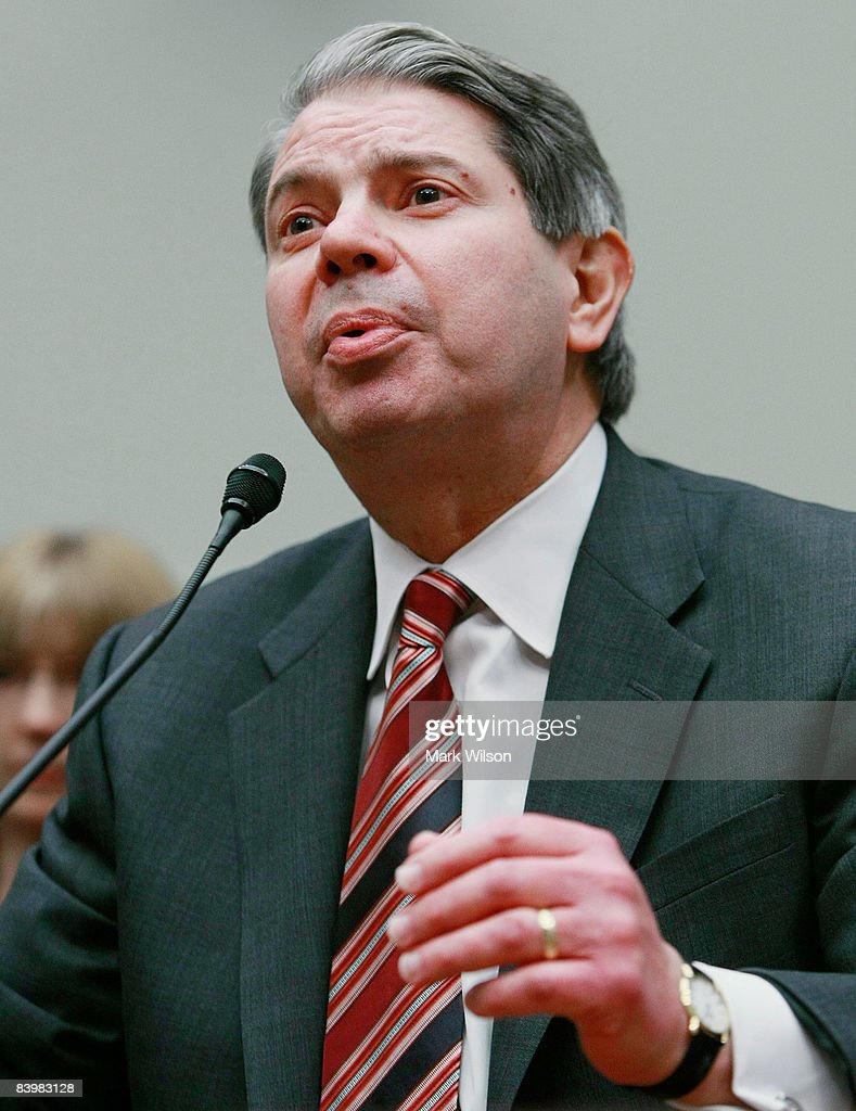 Gene Dodaro, U.S. Comptroller General of the Government Accountability Office testifies during a House Financial Services Committee hearing on Capitol Hill December 10, 2008 in Washington, DC. The committee is hearing testimony on concerns regarding the Treasury Departments oversight regarding the troubled assets relief program (TARP).