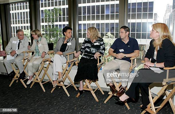 Gene Dunkin president of Godiva North America Muriel Gonzales executive VP and chief marketing officer for Ann Taylor Natalie Guedj president of Van...