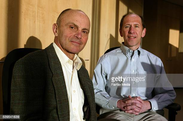 Gene Fama and Ken French, 21 June 2005. AFR Picture by JIM RICE