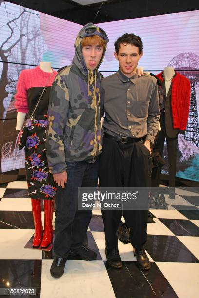 Gene Gallagher and Charlie Gosling attend Prada Thunder at the London Flagship Store on Old Bond Street on June 19 2019 in London England