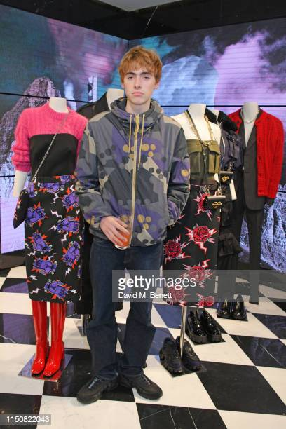 Gene Gallagher attends Prada Thunder at the London Flagship Store on Old Bond Street on June 19 2019 in London England