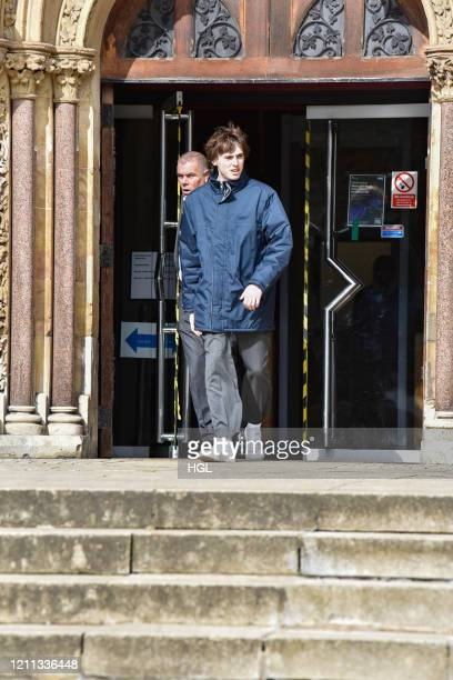 Gene Gallagher seen leaving Wood Green Crown Court on March 09 2020 in London England Gene Gallagher and Sonny Starkey charged with affray following...