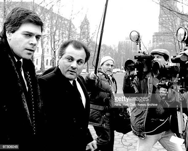 Gene Gotti and Tony Rampino outside Brooklyn Federal Court building