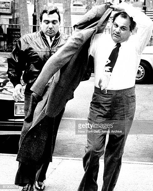 Gene Gotti arrives at Brooklyn Federal Court with John Carneglia an alledged Gambino Family soldier They arrive for another day of trail on heroin...
