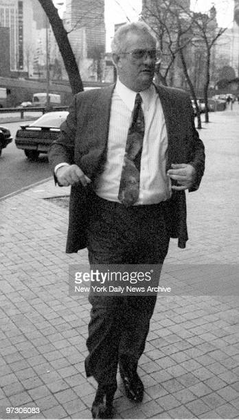 Gene Gotti arrives to visit his brother John Gotti at the Manhattan Correctional Facility