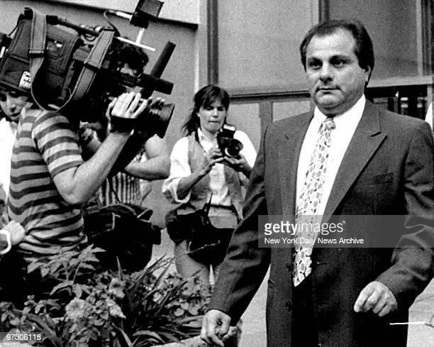 Gene Gotti leaving Brooklyn Federal Court after a hung jury