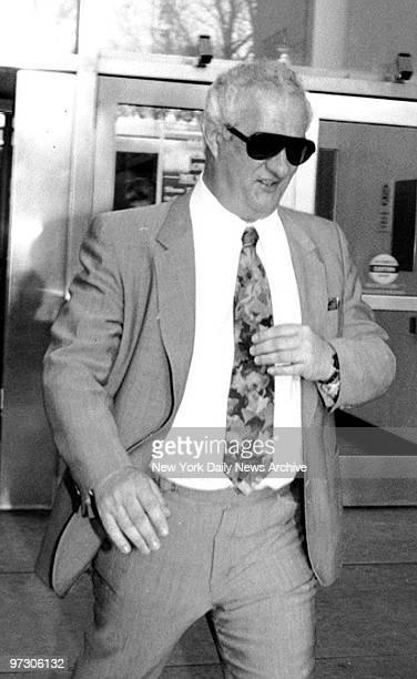 Gene Gotti outside Brooklyn Federal Court where his brother John Gotti was on trial