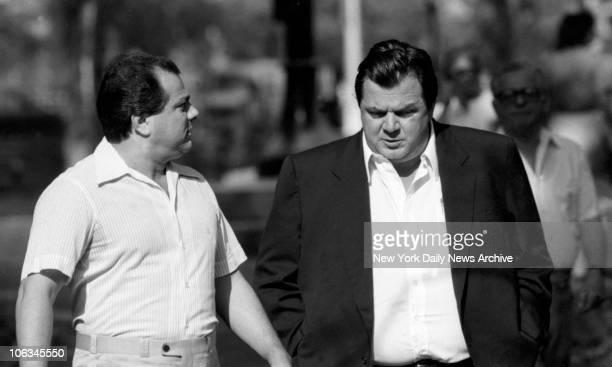 Gene Gotti with Joseph Massino at Brooklyn Federal Court