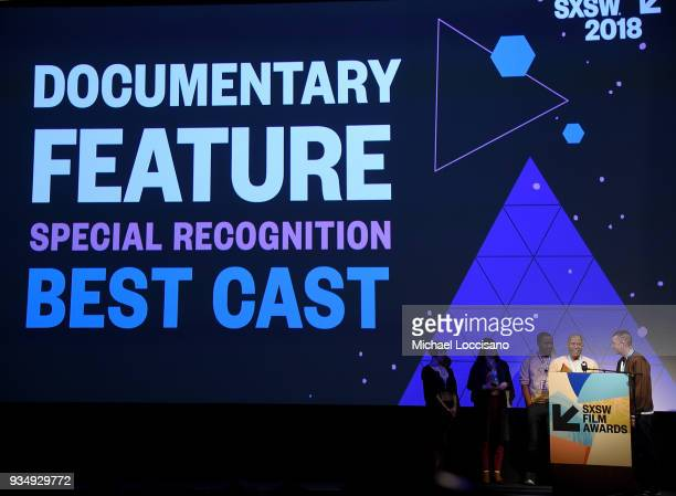 Gene Graham and Paul Rowley accept the SXSW Documentary Shorts award for 'This One's For The Ladies ' at the SXSW Film Awards show during the 2018...