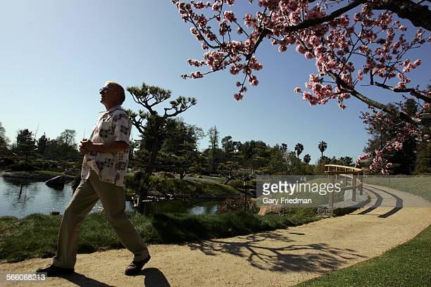 Gene Greene Director of the The Japanese Garden walks in the garden in Van Nuys on March 11 2010 The gardens is 6 1/2 acres authentic Japanese garden...