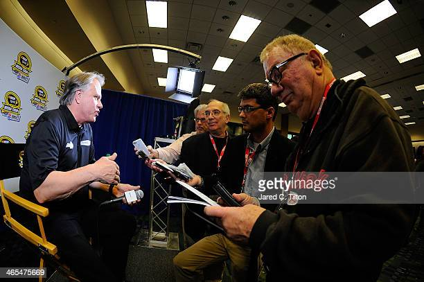 Gene Haas coowner of StewartHaas Racing speaks with the media during NASCAR Sprint Media Tour at Charlotte Convention Center on January 27 2014 in...
