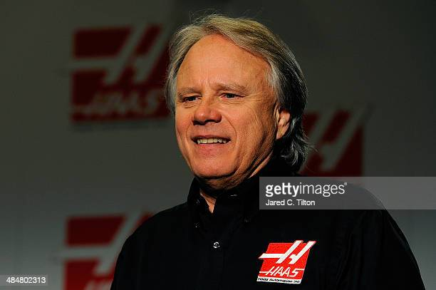 Gene Haas, founder, Haas Automation and chairman, Haas Formula, looks on after the Gene Haas Formula One Press Conference at the Concord Convention...