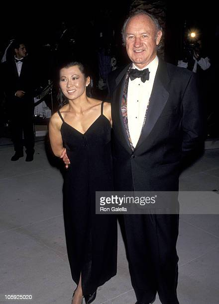 Gene Hackman and Betsy Arakawa during 1994 Vanity Fair Oscar Party - Arrivals at Morton's Restaurant in West Hollywood, California, United States.