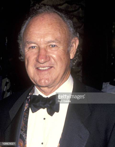 Gene Hackman and Betsy Arakawa during 1994 Vanity Fair Oscar Party Arrivals at Morton's Restaurant in West Hollywood California United States