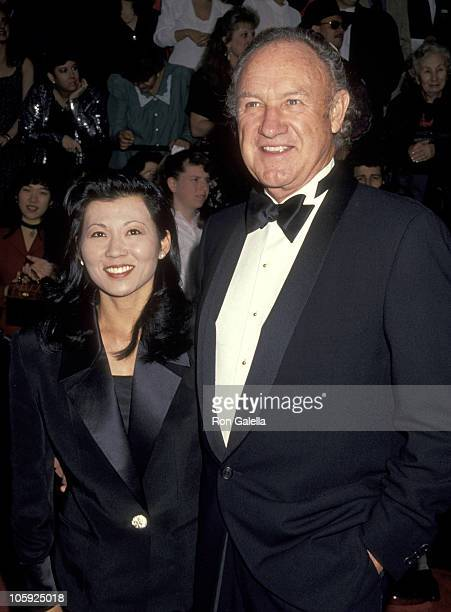 Gene Hackman and Betsy Arakawa during 20th Annual People's Choice Awards at Sony Studios in Culver City California United States