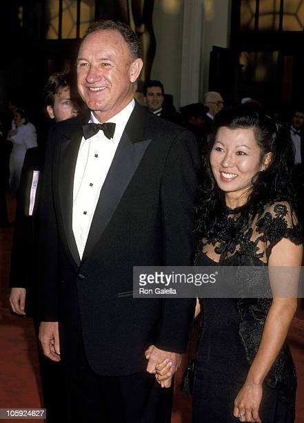 Gene Hackman and Betsy Arakawa during 61st Annual Academy Awards - Arrivals at Shrine Auditorium in Los Angeles, California, United States.