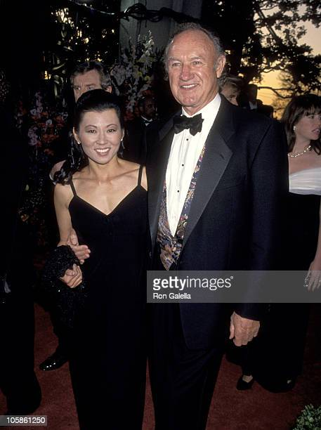 Gene Hackman and Betsy Arakawa during 66th Annual Academy Awards at Dorothy Chandler Pavillion in Los Angeles CA United States