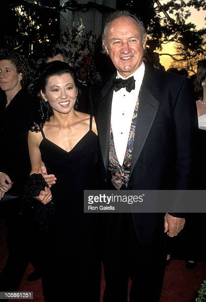 Gene Hackman and Betsy Arakawa during 66th Annual Academy Awards at Dorothy Chandler Pavillion in Los Angeles, CA, United States.