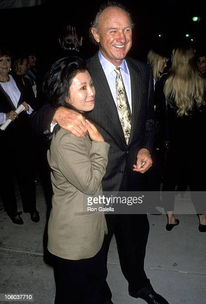 Gene Hackman and Betsy Arakawa during Actors as Artists Charity Benefit November 9 1992 at Tripp's Club in Century City California United States