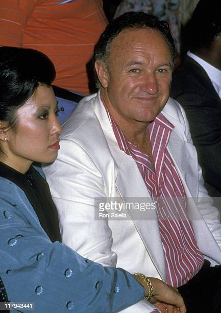 Gene Hackman and Betsy Arakawa during Mike Tyson vs Michael Spinks Fight at Trump Plaza - June 27, 1988 at Trump Plaza in Atlantic City, New Jersey,...